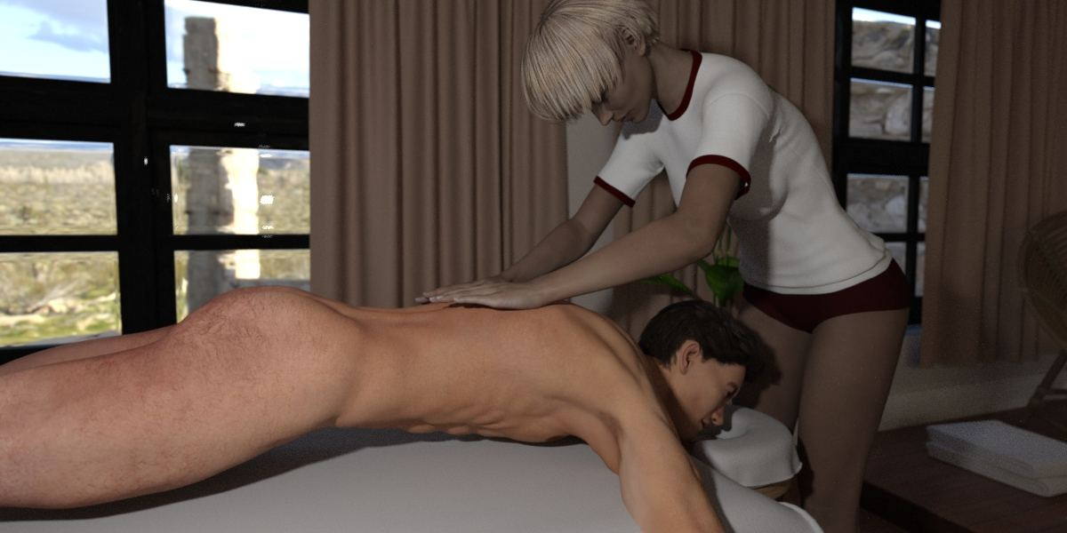 Full body massage with ejaculation