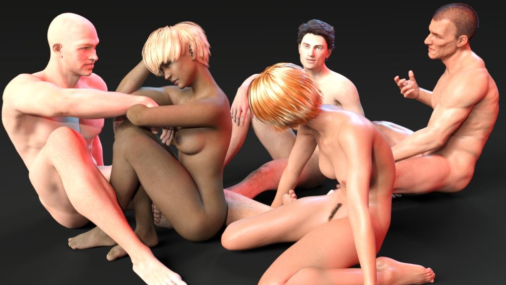 Bukkake sex orgy.